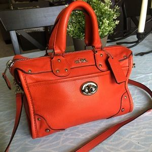 Authentic Coach mini leather Ryder crossbody